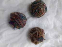 Multi-colored homespun Cotswold and Tunis blend.