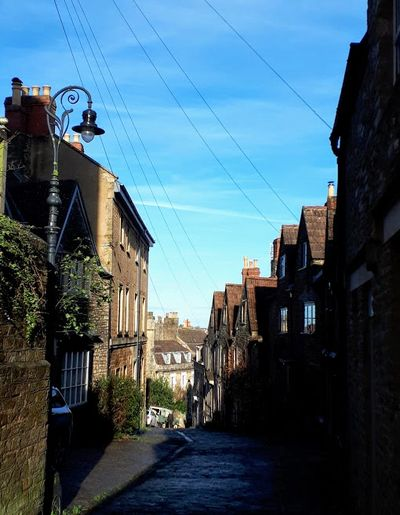 Gentle Street in Frome, Somerset
