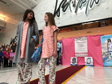 Our students showed some of their sewing projects at the Moorestown and Cherry Hill Mall.