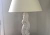 Plaster Prince of Wales Feather Lamp