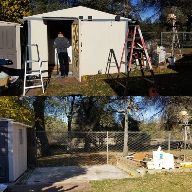 Shed Removal Rogue junk removal Sacramento ca