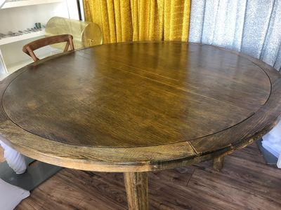 "66"" Round farm table for rent in orange county"