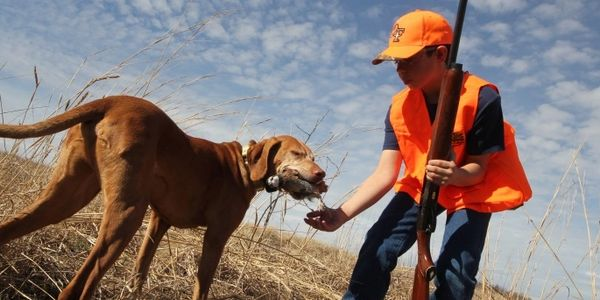 Youth and dog hunting
