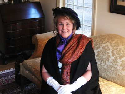 Shelley Hendry portraying Dolley Madison.