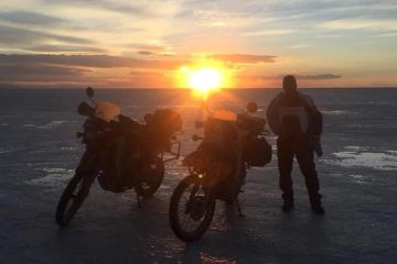 it's cold, but it's hard to beat the sunset over the Uyuni Salt Flats