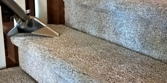 carpeted step cleaning