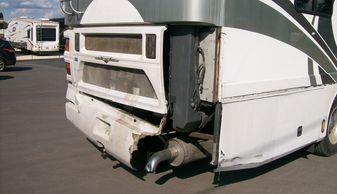 2001 American Tradition motor home rear cap fiberglass mold, manufacture & paint