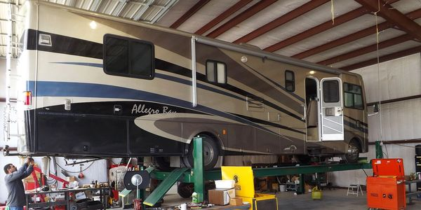 Class A RV Repairs is a full service RV service center with a large lift to hoist motor homes