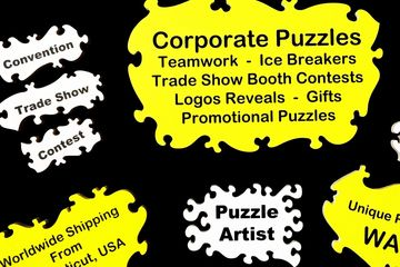 Corporate Puzzles Promotional Puzzles Teamwork is dreamwork  trade show contest games team building