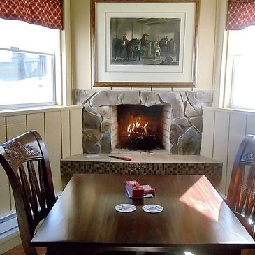 The Gettysburg Room fireplace
