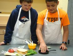 My PHIT youth learn about nutrition through team competitions.