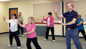Tai Chi students and instructor.