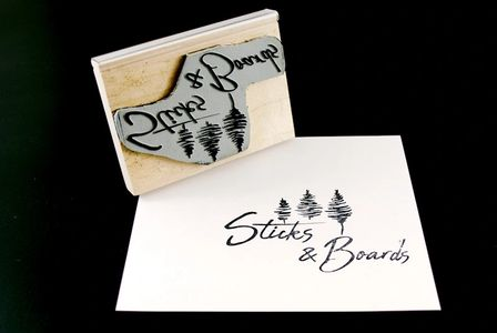 Sticks and Boards rubber stamp