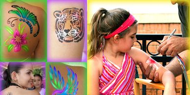 Air Brush Tattoos DJ Disc Jockey Green Screen Dancers Audio/Visual Up Lights Decor Lighting Games