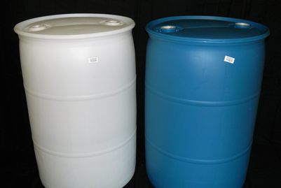 "55 GALLON CLOSED HEAD NEW UN RATED POLY DRUMS - UN1H1/Y1.4/150 - UN1H1/Y1.9/150 - 2"" X 2"" FITTED TOP"