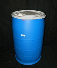 "30 GALLON OPEN HEAD NEW UN RATED POLY DRUM - UN1H2/Y180/S - 2"" X 3/4"" FITTED LID-LEVER LOCK CLOSURE"