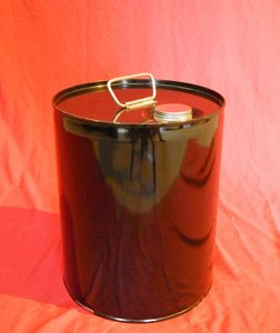 5 GALLON CLOSED HEAD NEW UN RATED UNLINED STEEL PAIL - UN1A1/Y1.6/150-  PULL OUT METAL SPOUT