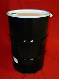 55 Gallon Open Head New Unlined Steel Drum - UN1A2/Y1.2/100 - Bolt Ring Closure - Fitted Lid