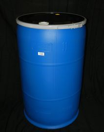 "55 GALLON OPEN HEAD NEW UN RTAED POLY DRUM - UN1H2/Y250/S - 2"" X 3/4"" FITTED LID-LEVER LOCK CLOSURE"