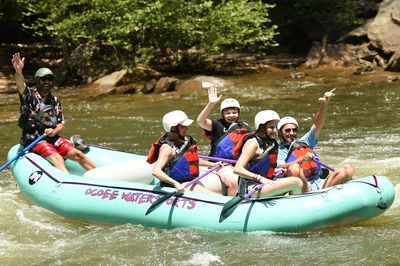 A fun day Whitewater Rafting on the Middle Ocoee River
