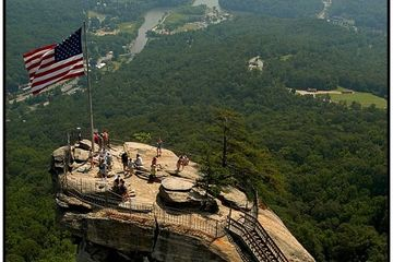 Chimney Rock, the 535-million-year-old monolith for which the Park is named Click photo for details