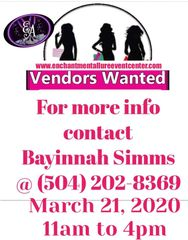 Vendors Needed for Pop Up Shop in Gretna . Small Business Owners Business Expo.