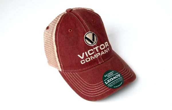 Victor Co Cardinal Trucker Mesh Hat