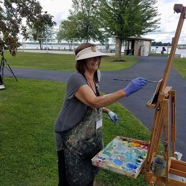 Lee Hanford, First Prize winner of the 3rd Annual Clayton - 1000 Islands Plein Air Competition.