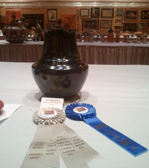 Black Bear Paw Water Jar - Indian Arts Fund Award Excellence in Traditional Arts - First Place Div A