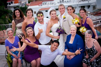 wedding party and celebration in Conchas Chinas, Puerto Vallarta, Mexico