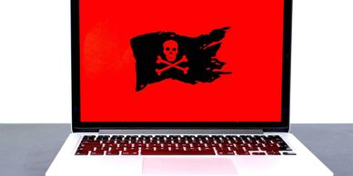 Ransomware Pirate Laptop