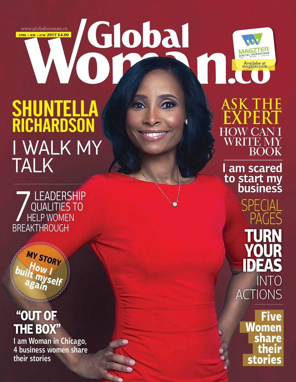 Shuntella Richardson and Global Woman Magazine