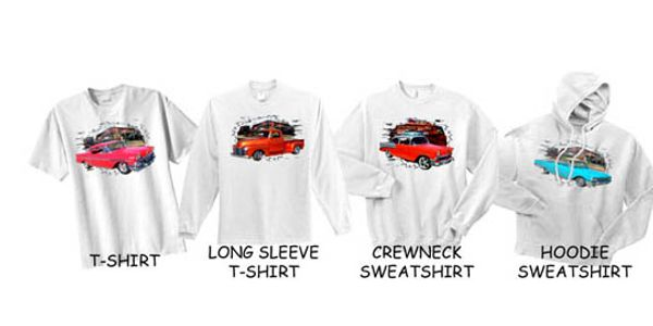 T-Shirts, Long Sleeve T-Shirts, Crew neck Sweatshirts and Hoodie Sweat Shirts in White and Ash.