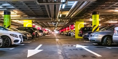 Commercial painting parking garages, wayfinding, imaging