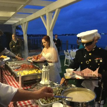 Clambake catering, shrimp boils, Paella catering, mission beach catering, pacific beach catering