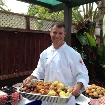Clambake catering Paella catering, San Diego Caterer, mission beach catering, pacific beach caterer