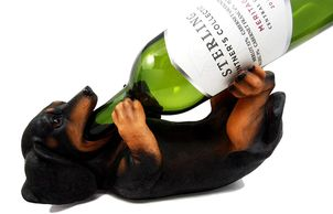 Dog Wine Bottle Holder.  Best gift ideas for the dog lover