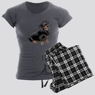 Gifts for the  Dachshund lover. Dachshund themed pajamas for the dog owner.