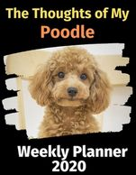 Poodle weekly planner.  Gifts for the Poodle lover.  Discounted gifts for the dog lover.