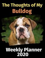 Bulldog weekly planner.  Gifts for the Bulldog lover.  Dog gifts on sale.