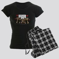Gifts for the  Yorkshire Terrier lover.  Yorkshire Terrier themed pajamas for the dog owner.