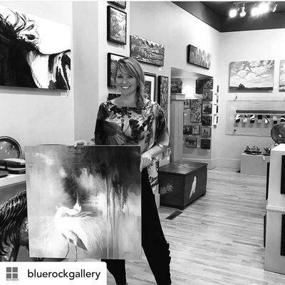 Introducing Kristine Andrea Morrow, who presents her artwork at Bluerock Gallery in alberta canada
