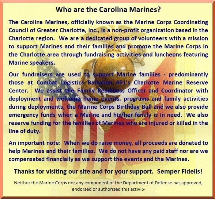 Carolina Marines; Marine Corps Coordinating Council of Greater Charlotte