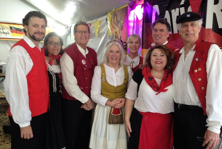 Our dance group at the yearly Tomball German Festival