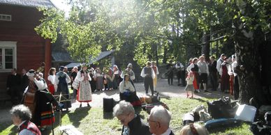 Scandinavian Folk Dancers of Houston at folk dance event in Helsinki 2015