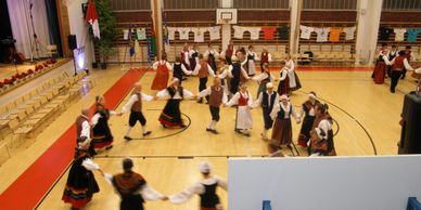 Houston folk dancers at a Finnish yearly festival held in Turku Finland 2015.
