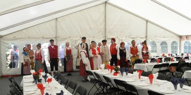 Scandinavian Folk Dancers of Houston at a Danish cultural event. 2010