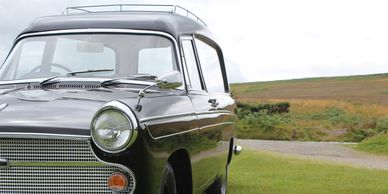 Classic vintage car vintage hearse exmoor heddon mouth hunters inn lynton  combe martin lynmouth