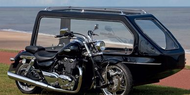 Motorcycle funeral Motorcycle and side car Pillion Biker funeral Bike marwood muddiford milltown
