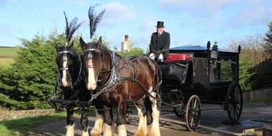 marwood muddiford guineaford methodist burial horses cart traditional funeral unique funeral